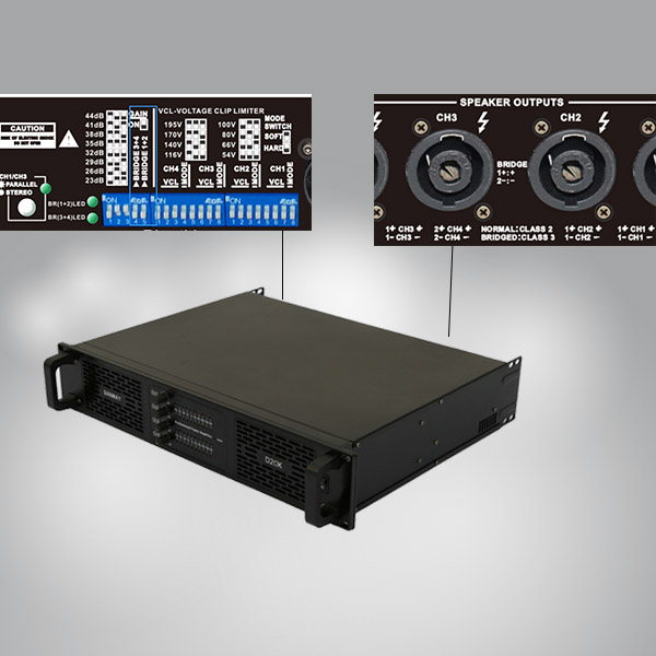What is a bridged amplifier? Function of bridging of professional power amplifier